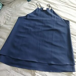 Navy Blue Fashion Top